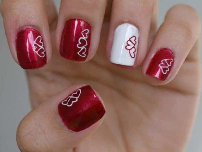 40 cute valentines day nails designs for ladies 2018 sheideas - Valentines Nail