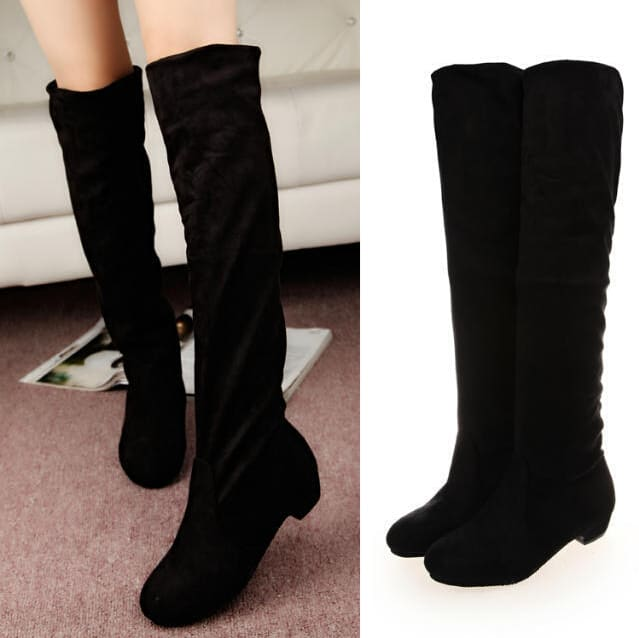 2016 Autumn High Heeled Knee Boots for Ladies