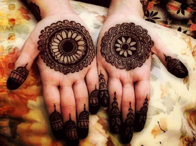 2016 Best Bangali Mehndi Designs of Front Hands