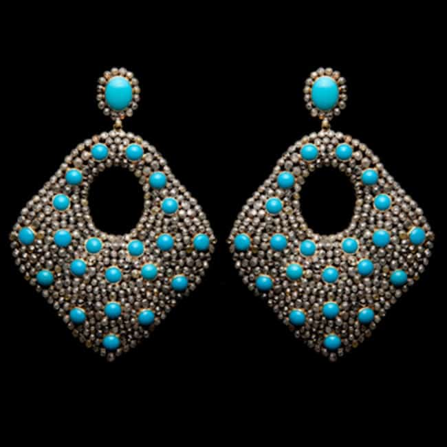 2016 Diamond and Turquoise Women Earrings