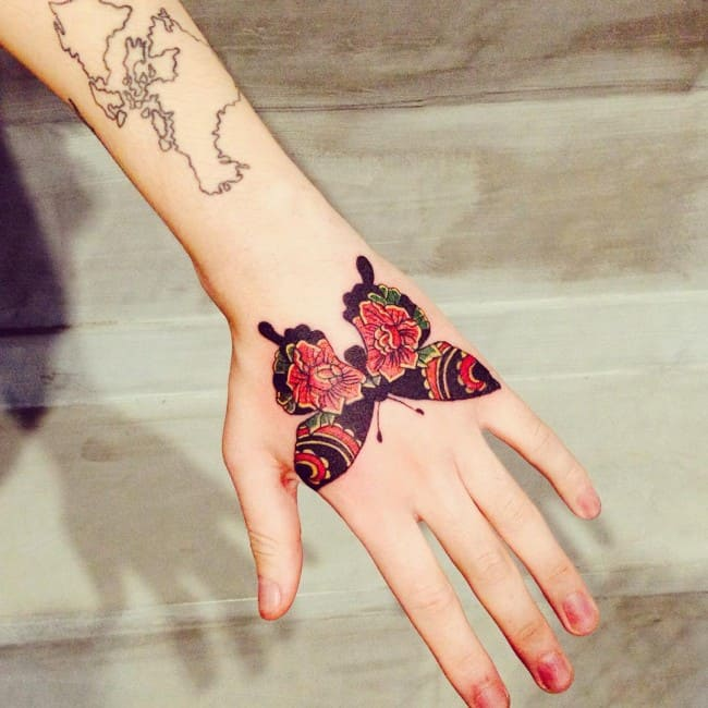 American Traditional Butterfly Tattoo Art