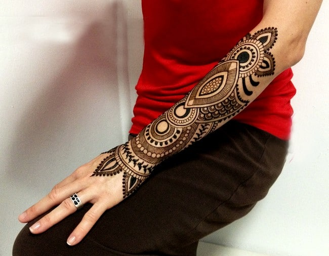 Arm Mehndi Design Images for Christmas 2016