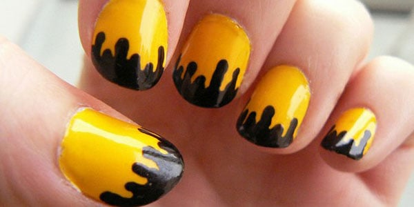Awesome Black and Yellow Nail Art Designs for Beginners