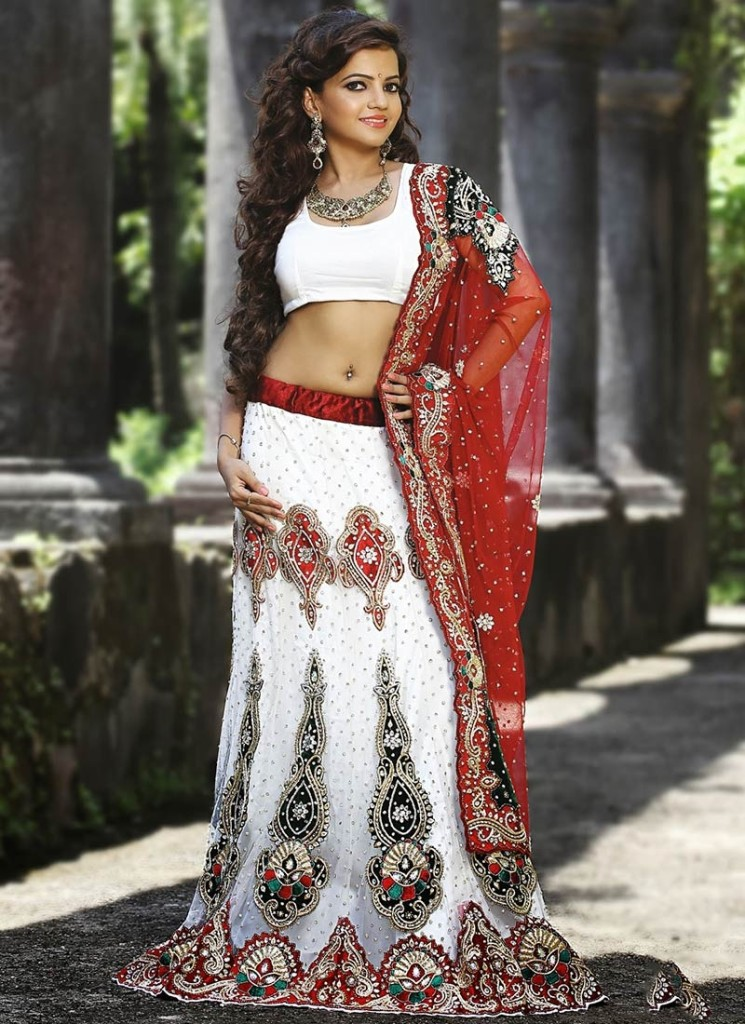 Awesome Off White Lehenga Choli Fashion 2016