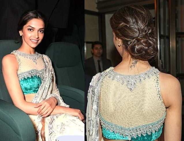 Backless Evening Saree Blouse Designs for 2016