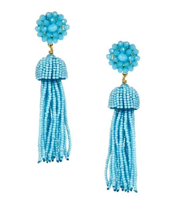 Best Turquoise Beaded Tassel Earrings 2016