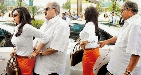 Bollywood Actress Adjusting Their Dresses in Public