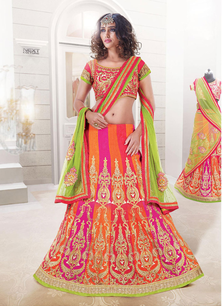 Bridal A Line Lehenga Choli for Wedding 2016