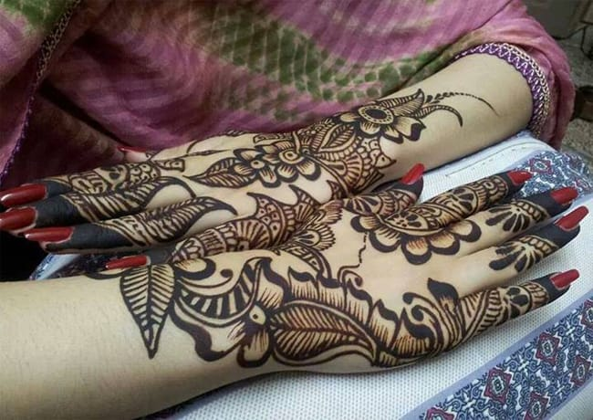 Bridal Mehndi Design Image Free Download