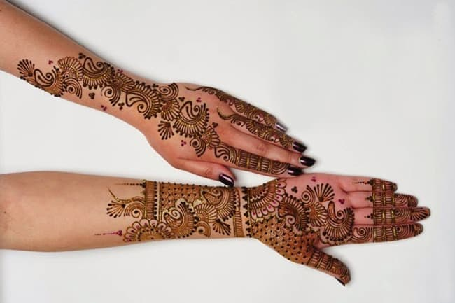 Bridal Mehndi Designs for Full Hands Front and Back 2016