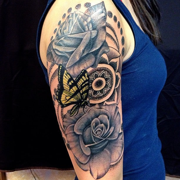 Butterfly Half Sleeve Tattoo Designs Ideas