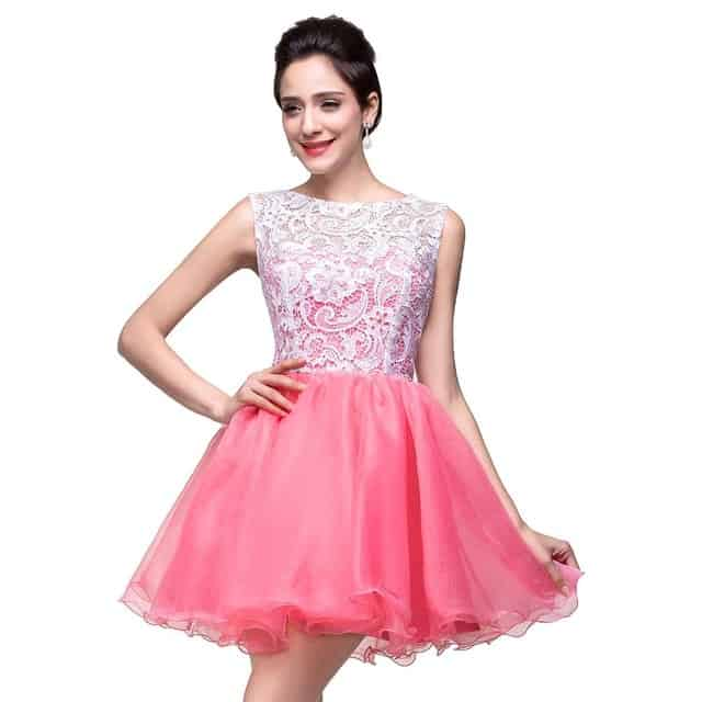 Cheap Lace Appliques Homecoming Outfits