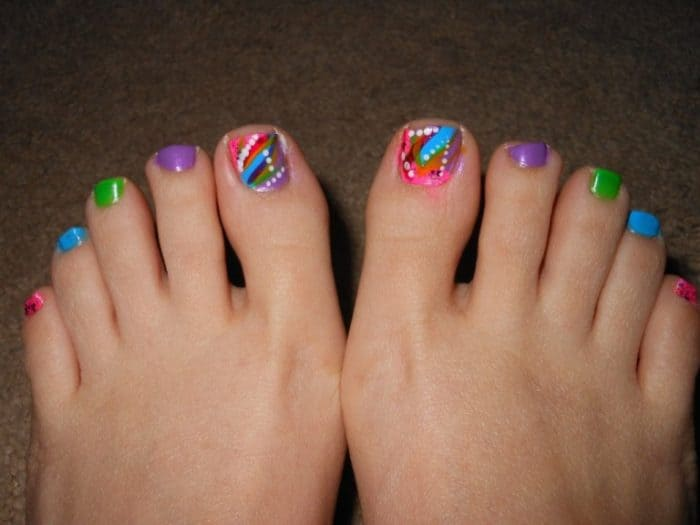 Colorful Toe Nail Designs for Summer 2016