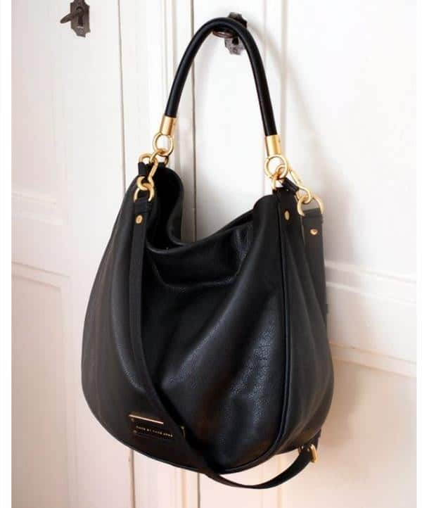 Cool Big Black Leather Handbags for Party