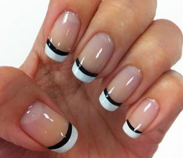 30 amazing french nail designs pictures sheideas cool french nail art designs for girls prinsesfo Images