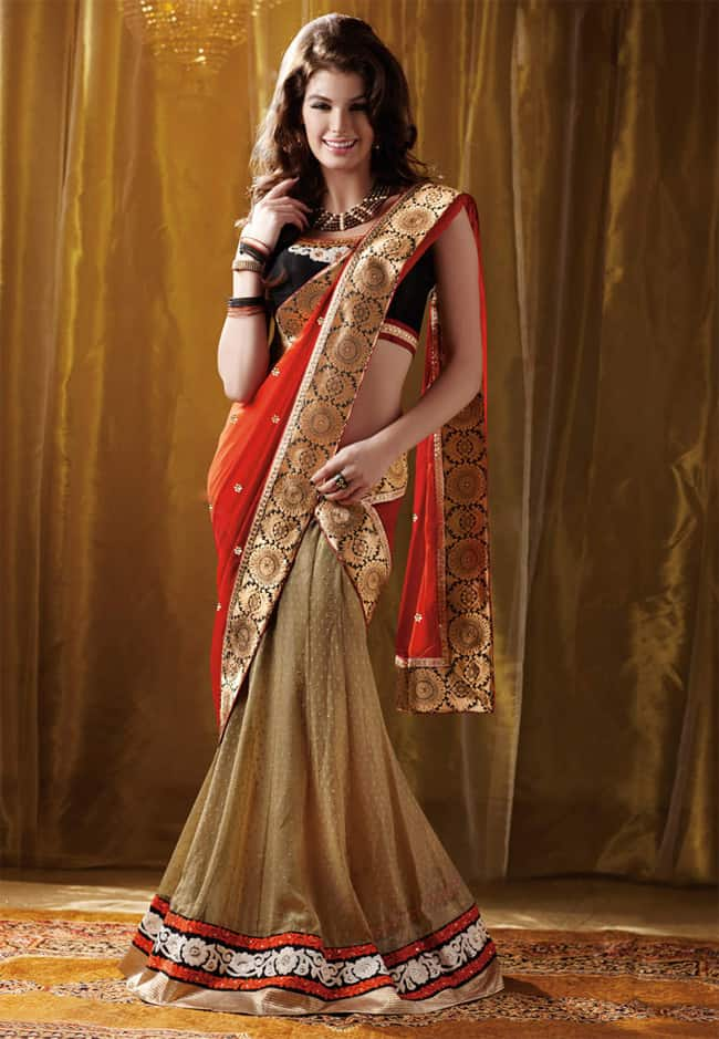 Cool Lehenga and Saree Designs for Women