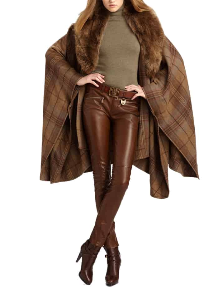 Cool Luxurious Lamb Leather Brown Pants 2016