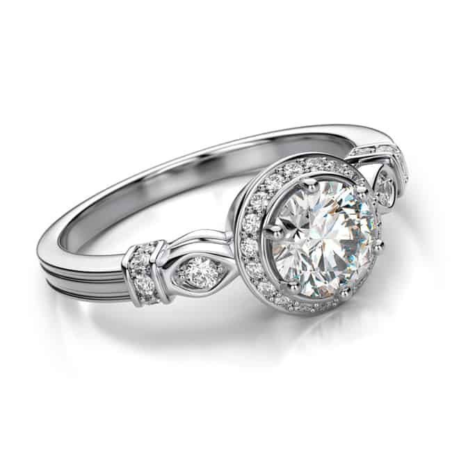 Cool Platinum Engagement Rings for Women