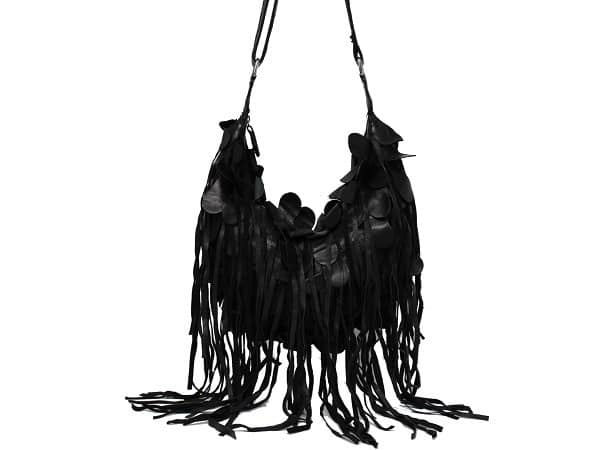 Coolest Black Leather Fringe Handbag Designs