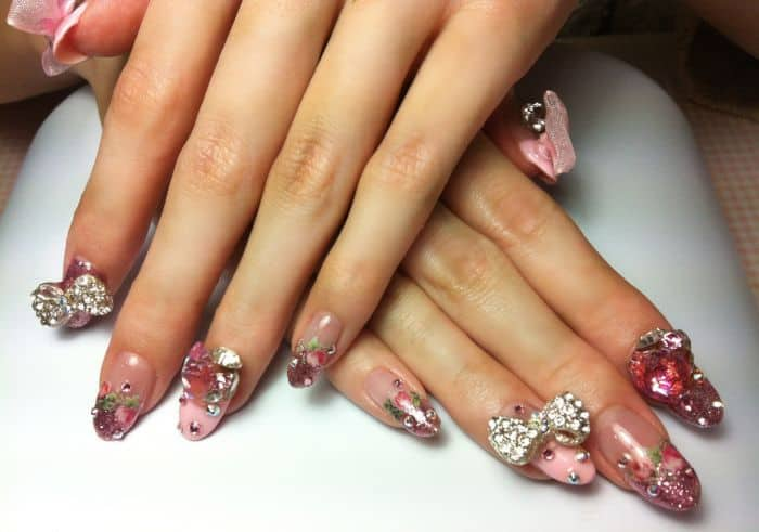 Creative Bow Nail Designs Trend for Girls