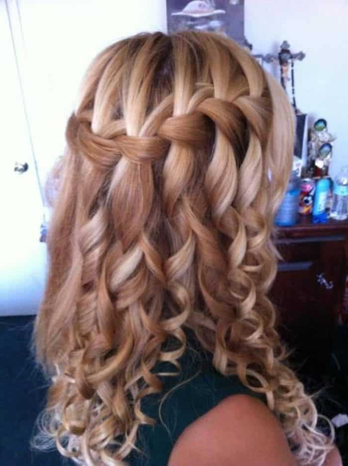 Cute Curly Hairstyles for Long Hair With A Braid