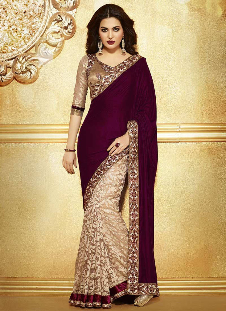 Designer Evening Wear Sarees for Brides 2016