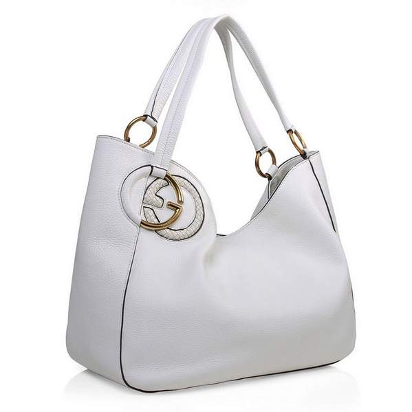 Designer Gucci White Leather Handbags 2016
