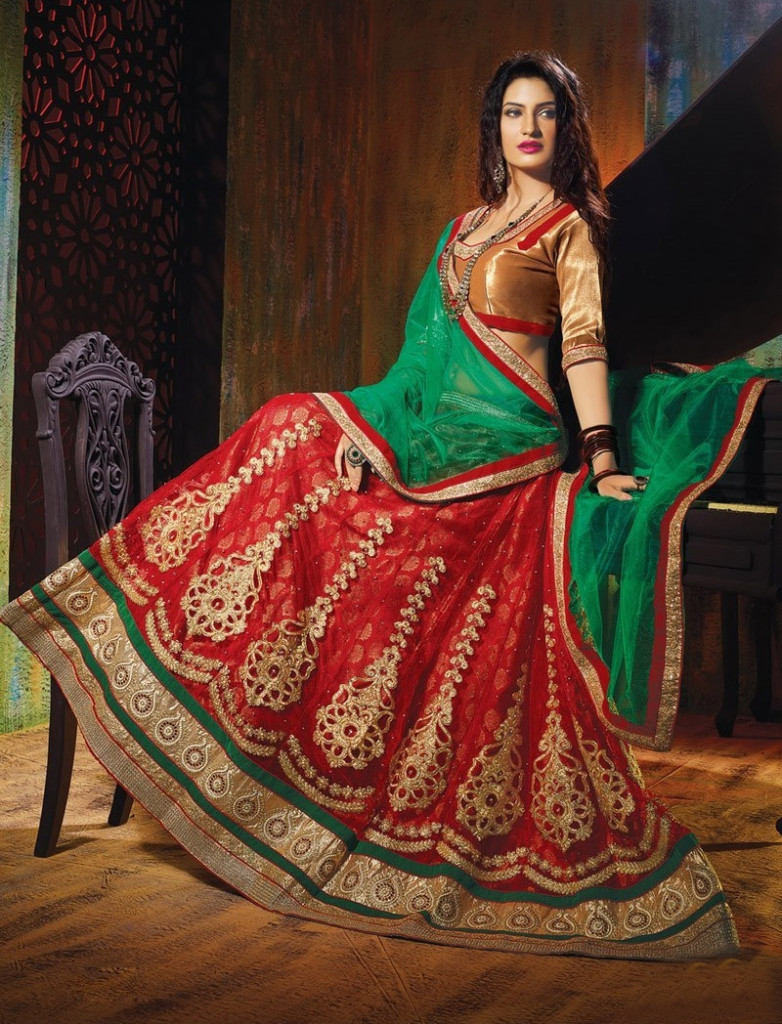 Designer Lehenga Choli Designs for Brides 2016