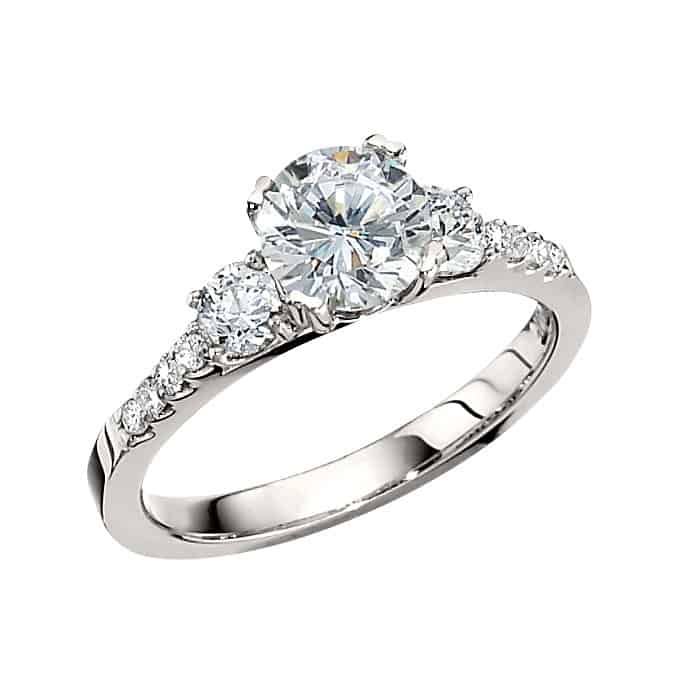 Square Cut Engagement Rings Platinum