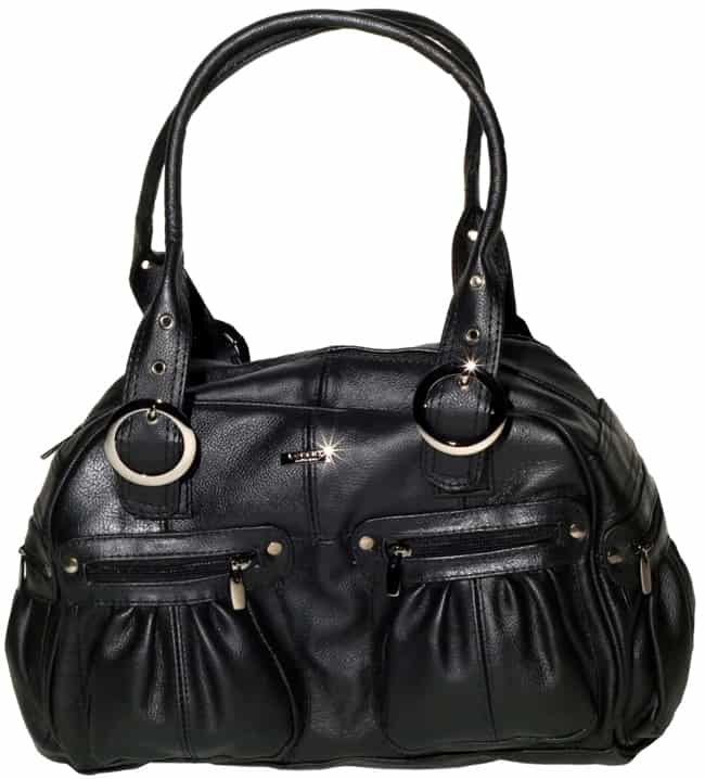Elegant Black Leather Handbags for Girls