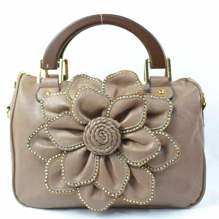 Flower Designer Leather Handbag Designs