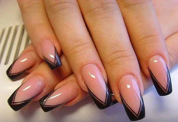 French Manicure Nail Art Ideas for Ladies