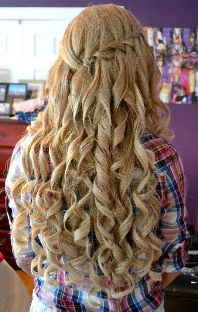 Long Curled Hair For Prom
