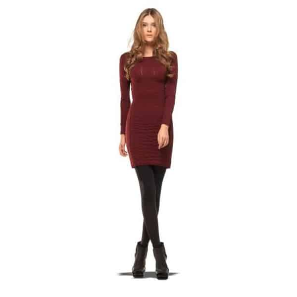 Girls Long Sleeve Dress With Tights and Boots 2016