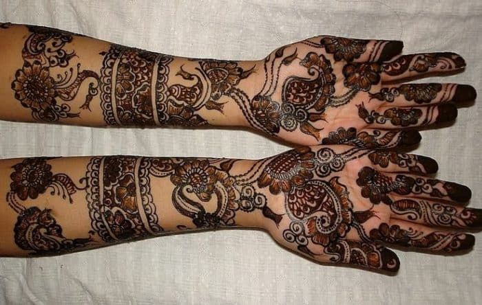 Great Arabic Henna Designs for Full Hands