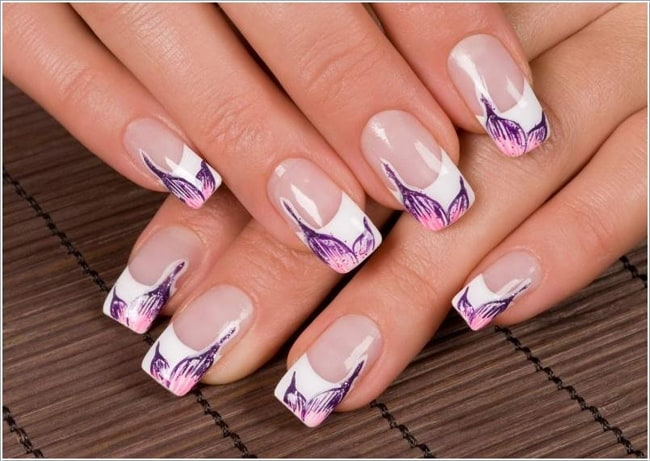 Great White French Tip Nail Designs 2016