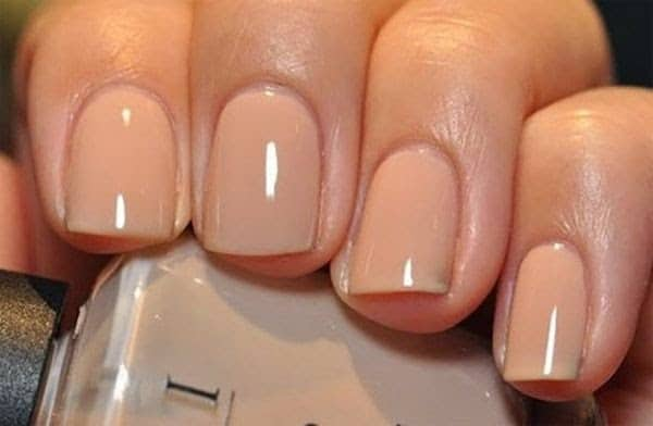 Nail polish color skin