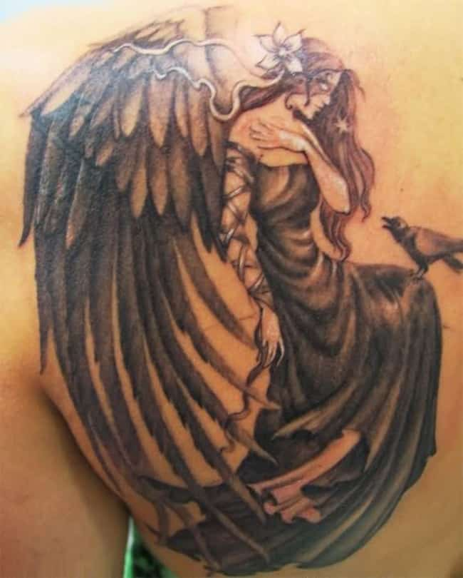 20 awesome angel tattoo designs pictures sheideas