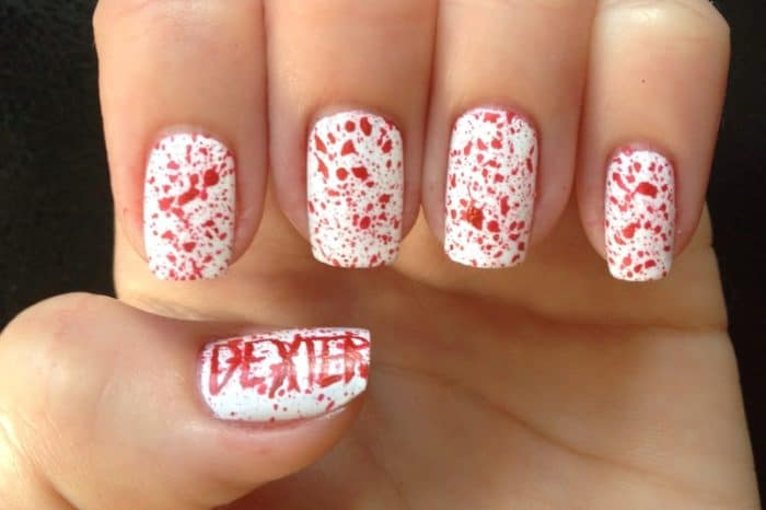 Halloween Blood Splatter Nail Designs 2016