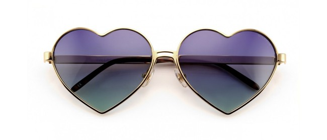 Heart Shaped Wildfox Sunglasses for Valentines Day