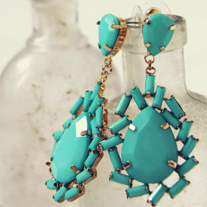 Iced Turquoise Style Earrings for Christmas