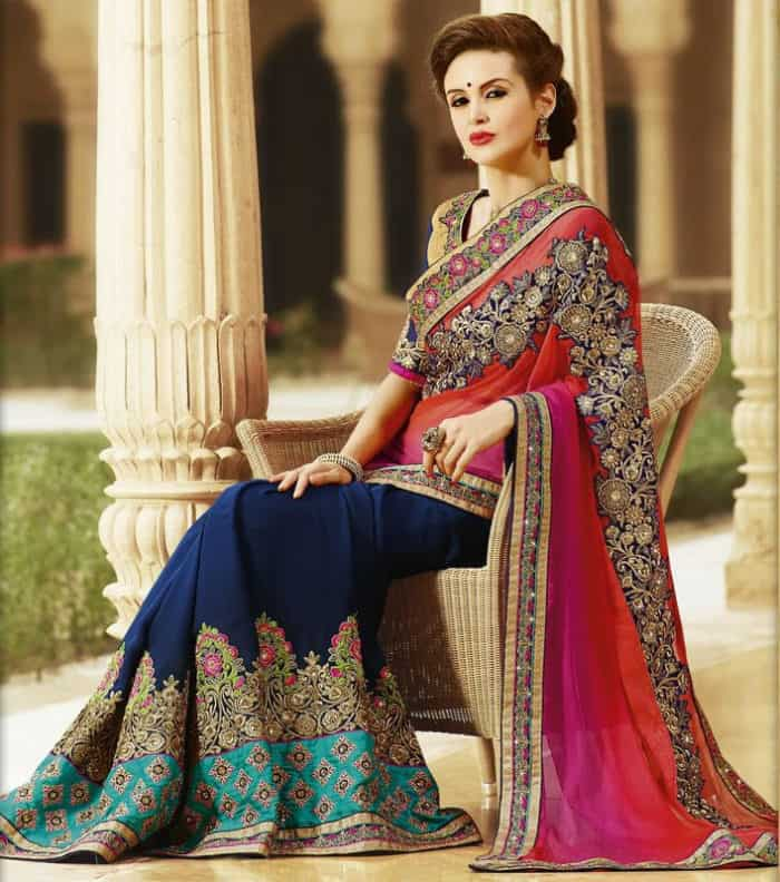 Indian Evening Saree Designs for Engagement