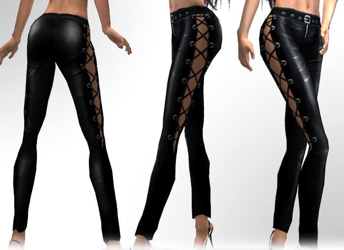 Laced Leather Pants for Evening Party