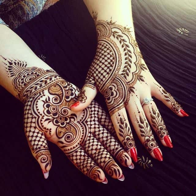 Latest Back and Front Hands Mehndi Designs 2016