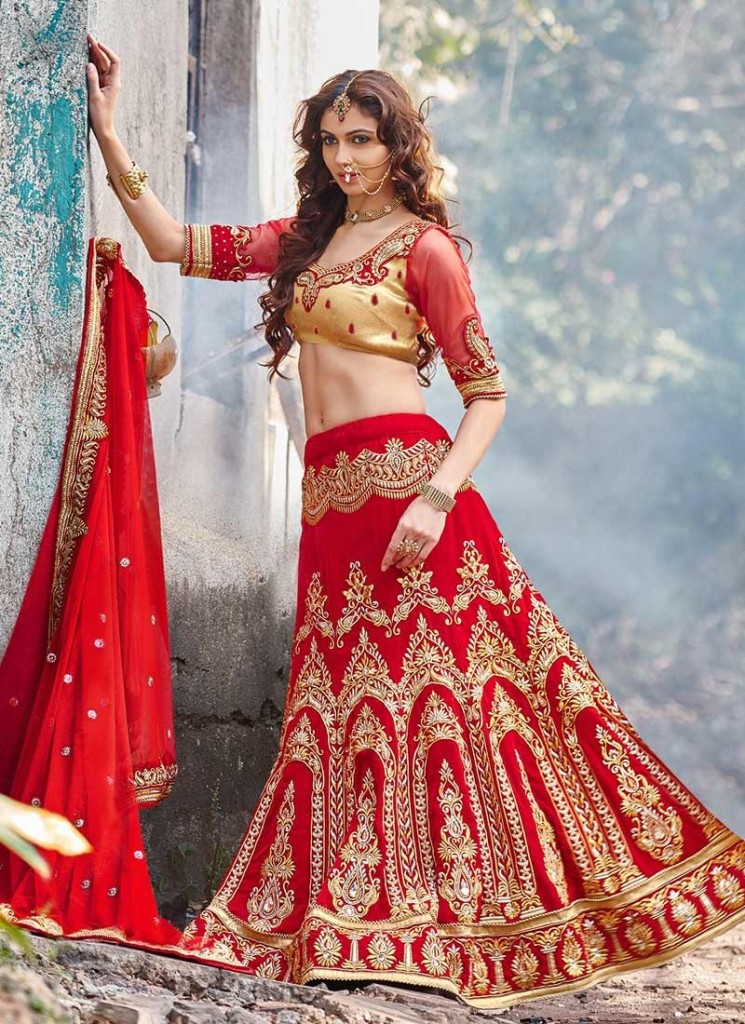 Latest Designer Lehenga Choli Designs 2016