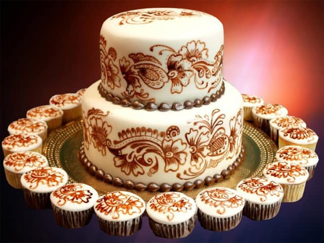 Latest Henna Style Wedding Cakes Ideas