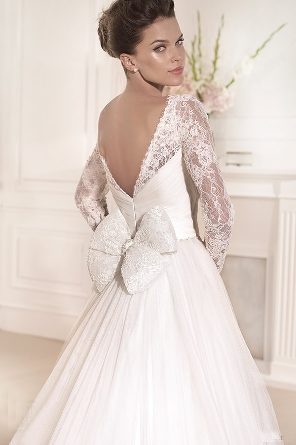 Latest Long Sleeve A Line Wedding Dresses for 2016