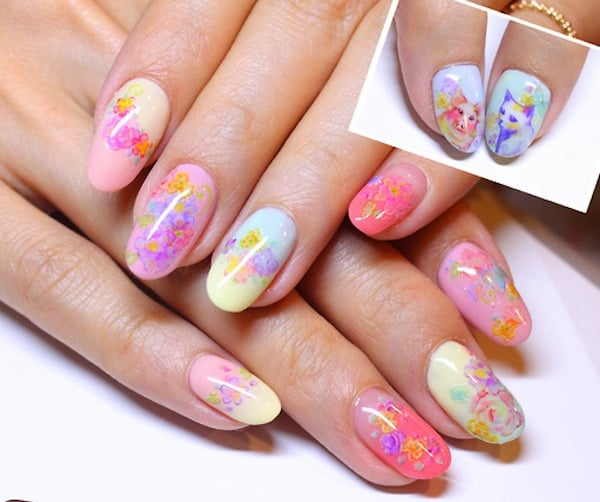 Pretty Flower Designs For Nails