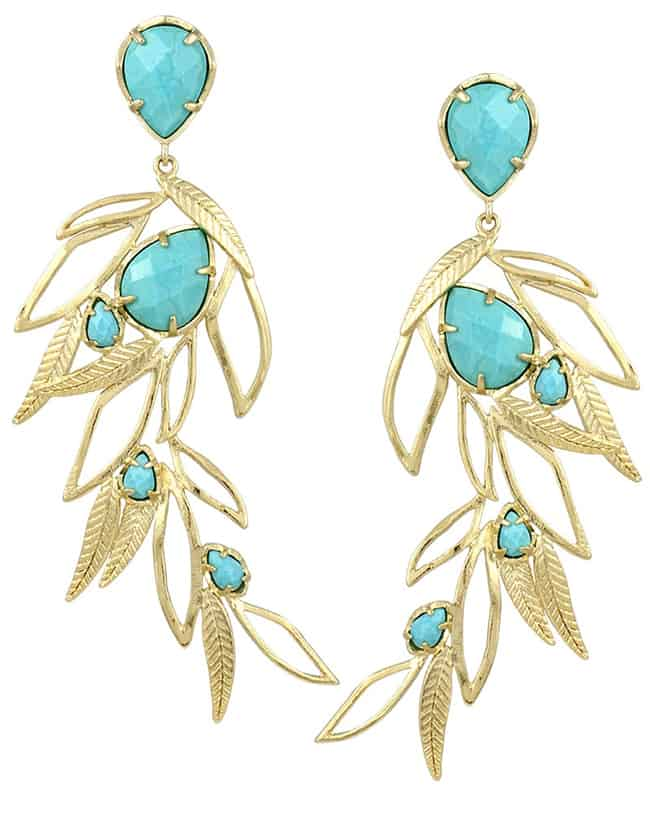 Latest Rosemary Floral Turquoise Earring for Women