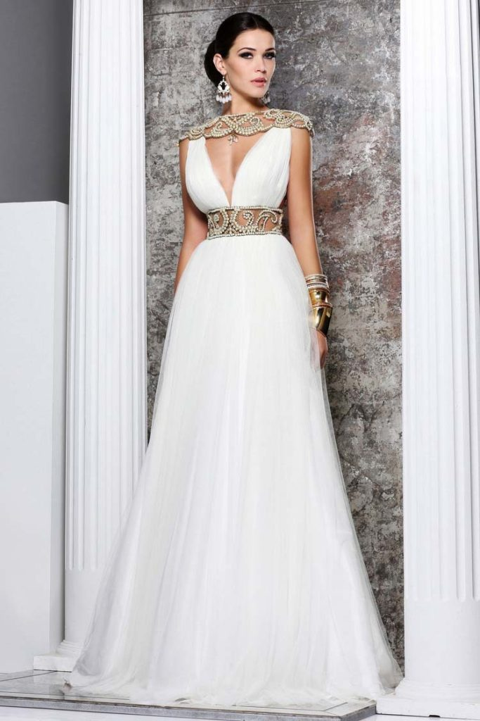 White Long Evening Dresses 11